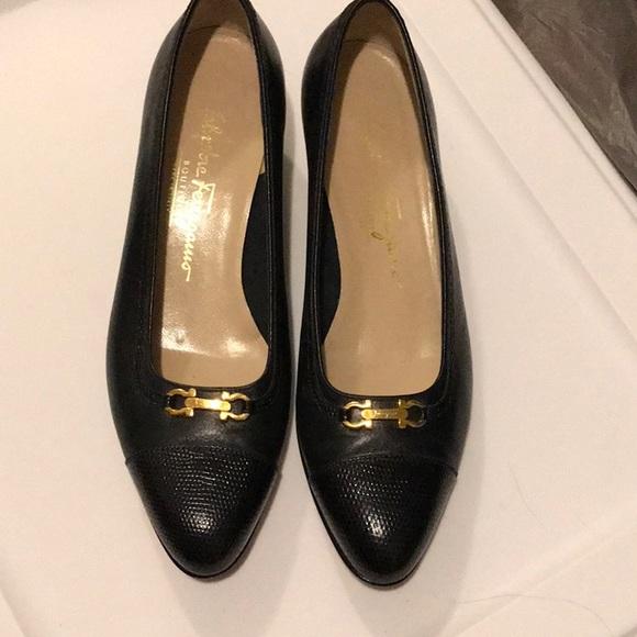 Salvatore Ferragamo Shoes - Women's  black Salvatore Ferragamo pumps